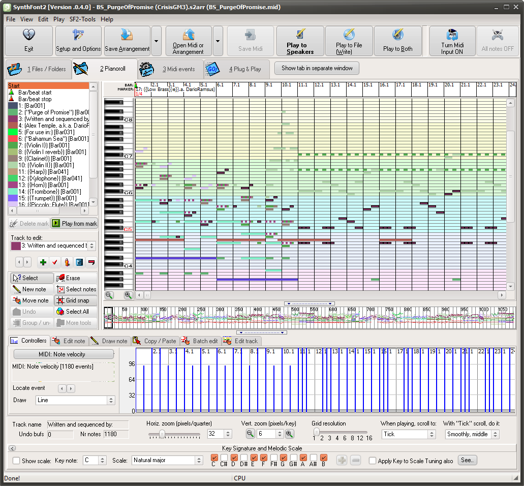 SynthFont, Viena etc - for playing with MIDI files, SoundFonts and