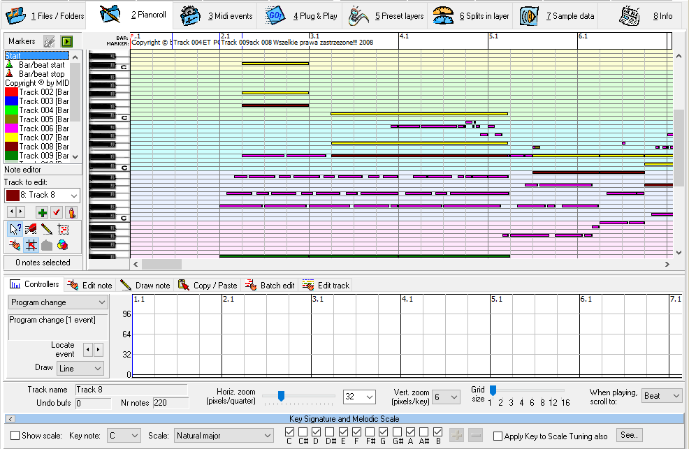 Tutorial 4: Pianoroll and other MIDI editors